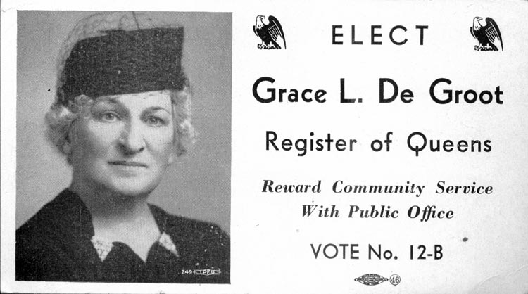 Image of Card with photo of Grace De Groot