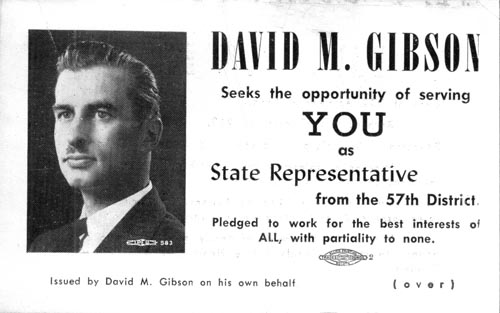 Image of Card with photo of David M. Gibson