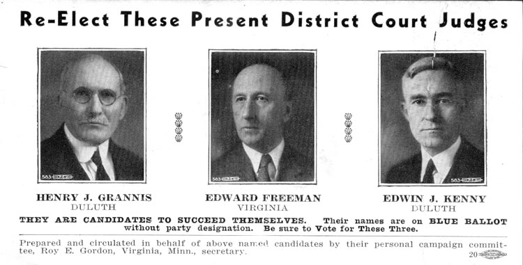 Image of Card with photos of Henry Grannis, Edward Freeman and Edwin Kenny