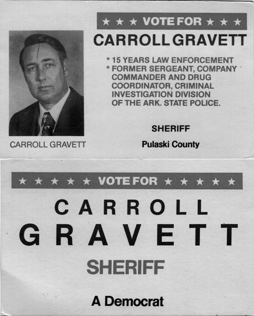Image of Card with photo of Carroll Gravett