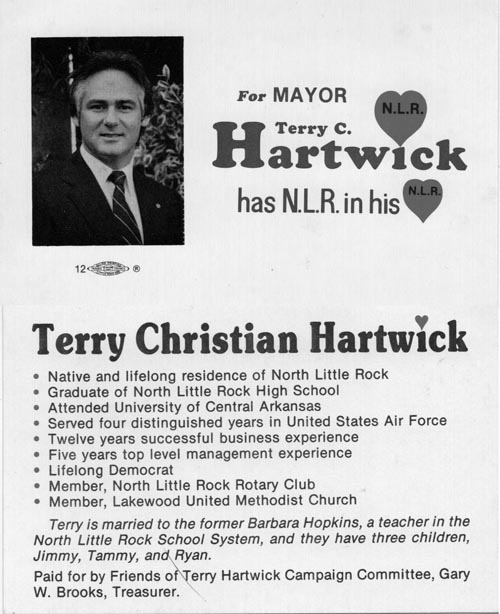 Image of Card with photo of Terry Hartwick