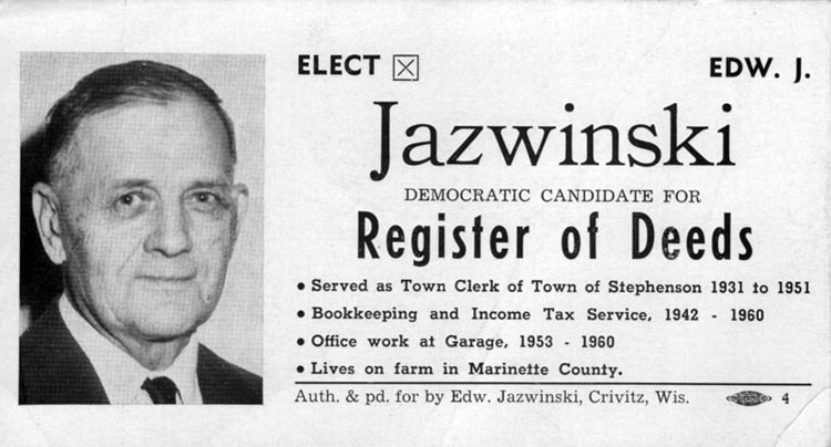 Image of Card with photo of Ed Jazwinski