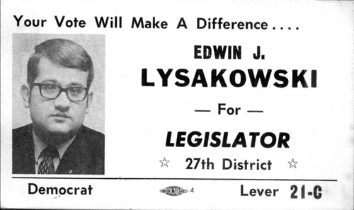 Image of Card with photo of Edwin Lysakowski