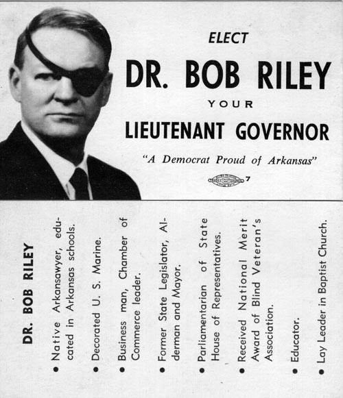 Image of Card with photo of Dr. Bob Riley