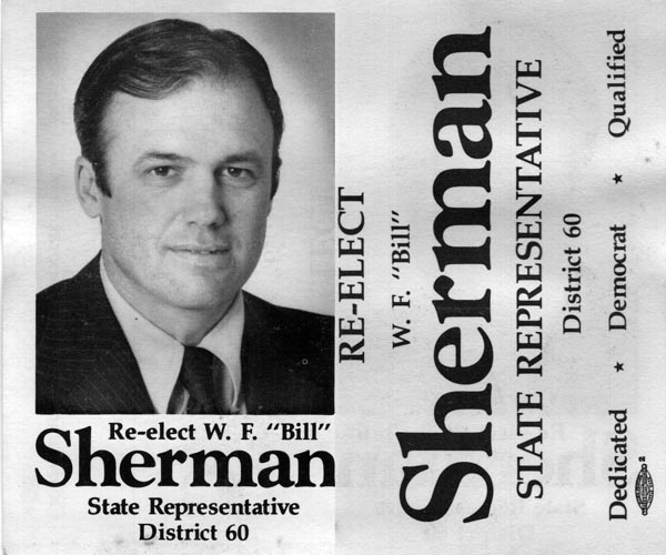 Image of Card with photo of Bill Sherman
