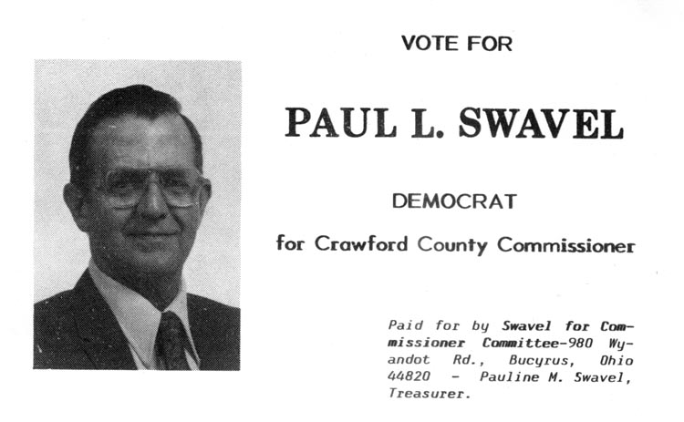 Image of Card with photo of Paul Swavel