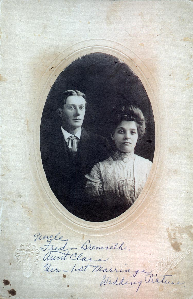 Photograph of Fred and Clara Bremseth