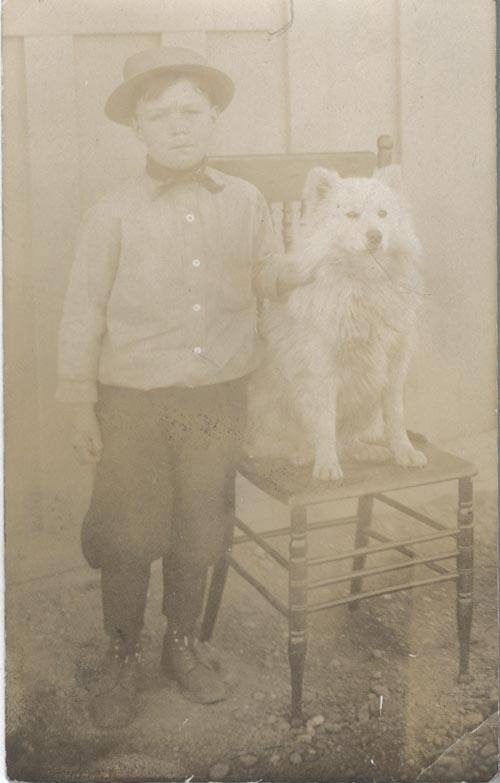 Photograph of Buster Van Alstine and Dog
