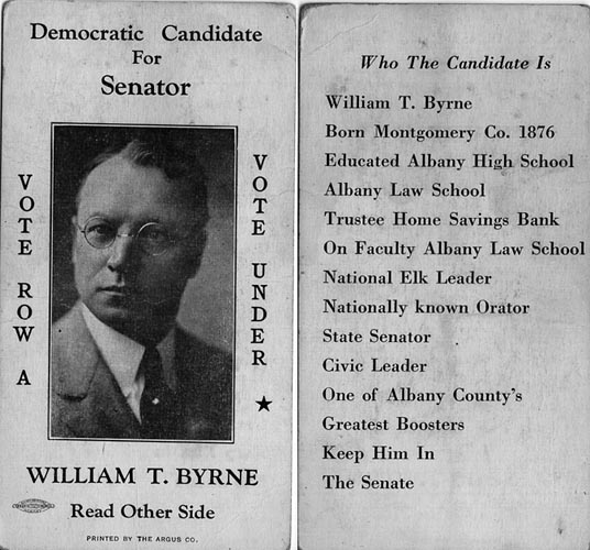 Image of Card with photo of William Byrne
