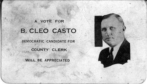 Image of Card with photo of B. Cleo Casto