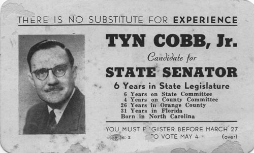 Image of Card with photo of Tyn Cobb