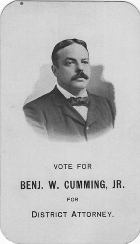 Image of Card with photo of Benj, Cumming