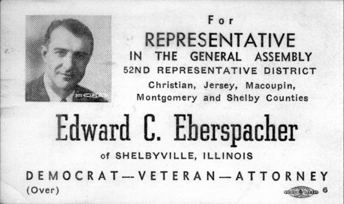Image of Card with photo of Edward Eberspacher