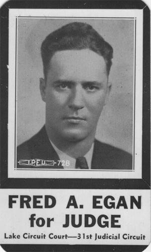 Image of Card with photo of Fred Egan