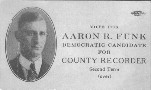 Image of Card with photo of Aaron Funk