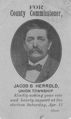 Image of Card with photo of Jacob Herrold