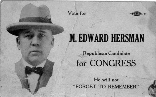 Image of Card with photo of M. Edward Hersman