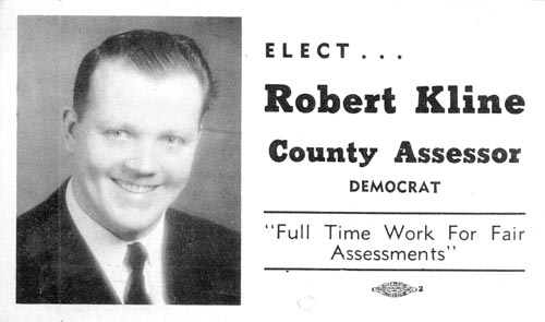 Image of Card with photo of Robert Kline