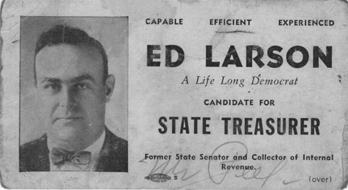 Image of Card with photo of Ed Larson