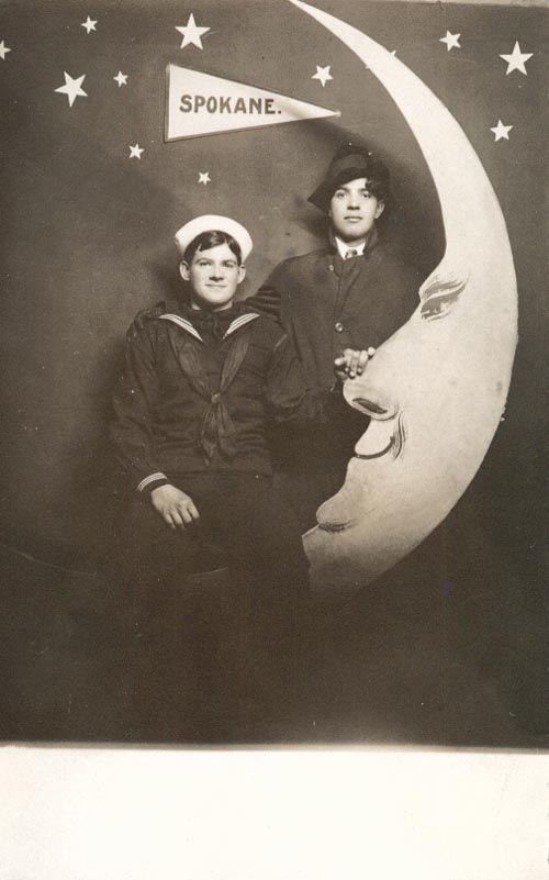 Photograph of Adolph Lundeen and Friend