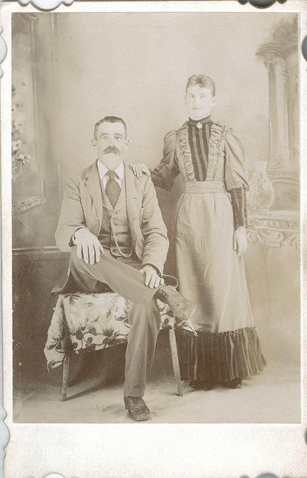 Photograph of Sam and Cora Martin