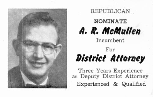 Image of Card with photo of A. R. McMullen