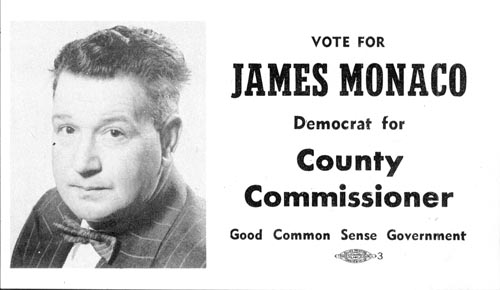 Image of Card with photo of James Monaco