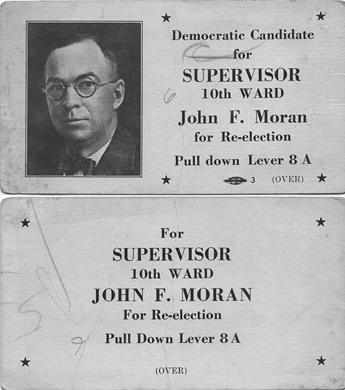 Image of Card with photo of John Moran