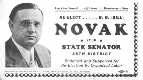 Image of Card with photo of B. G. Novak