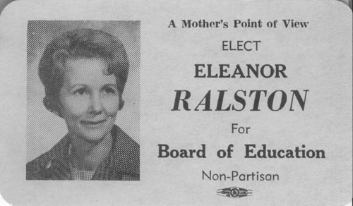 Image of Card with photo of Eleanor Ralston