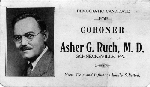 Image of Card with photo of Asher Ruch