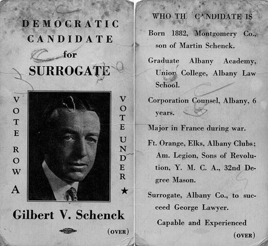 Image of Card with photo of Gilbert Schenck