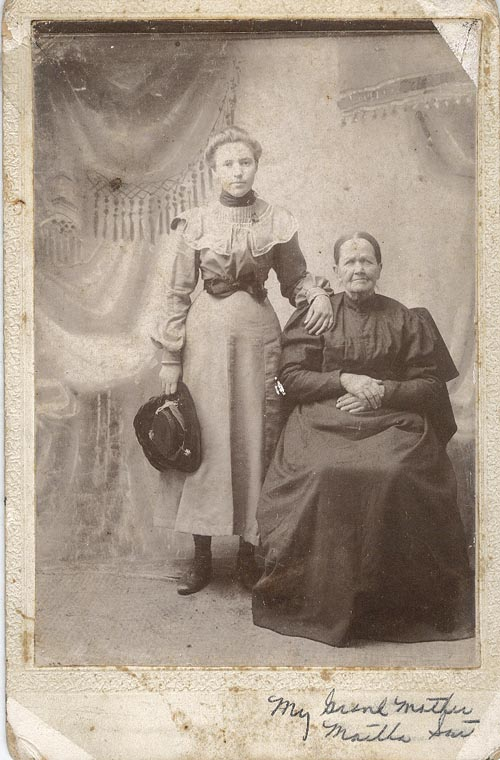 Photograph of Martha and Emma South