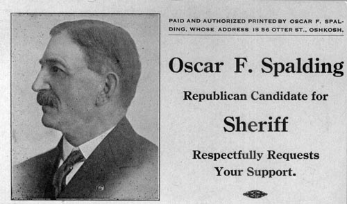 Image of Card with photo of Oscar Spalding