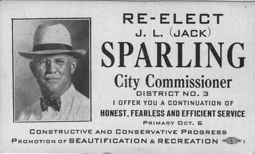 Image of Card with photo of Jack Sparling