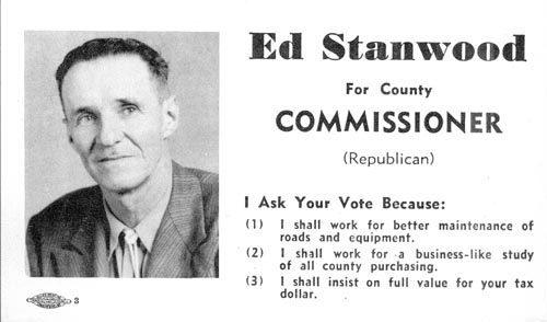Image of Card with photo of Ed Stanwood