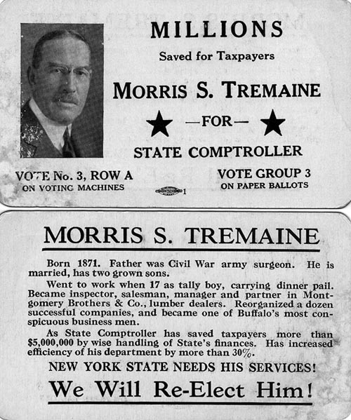 Image of Card with photo of Morris Tremaine