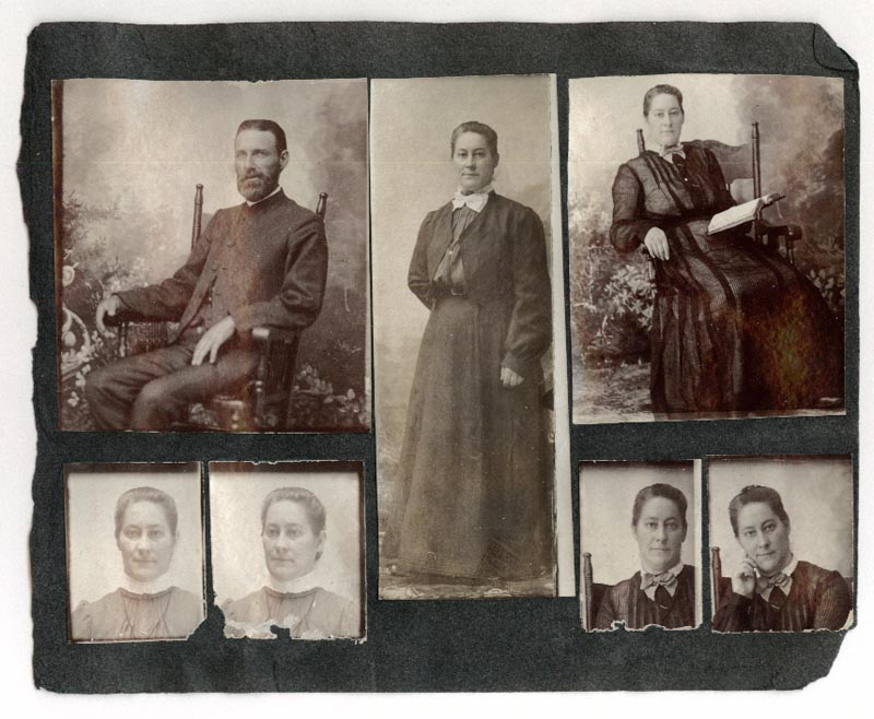 Photograph of Roberts' family members - Side One