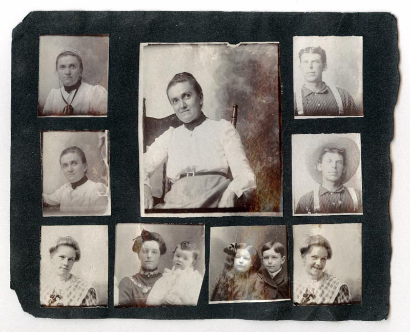 Photograph of Roberts' family members - Side Two