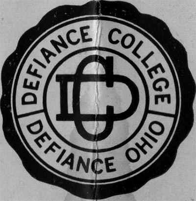 Image of Card with Defiance College Logo