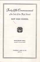 Thumbnail image of Salt Lake High Schools 1937 Commencement cover