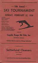 Thumbnail image of Ironwood 1956 Ski Tournament Program cover